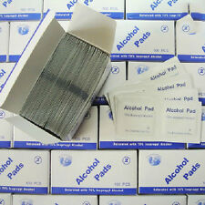 NEW 100pcs/Box Alcohol Swabs Pads Skin Cleaning Sterilization 70% Isopropyl
