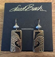 Laurel Burch Ancient Horse Earrings Equestrian Gold Tone Retired Rare NEW