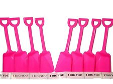 """48 """"I Dig You"""" Stickers & 48 Pink Toy Sand Beach Shovels Mfg USA Lead Free"""