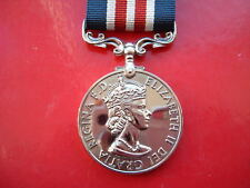 Quality Die Struck British Military Medal MM QEII Full Size Replacement Copy