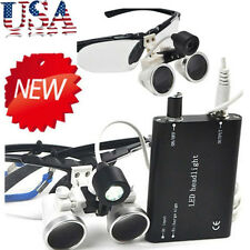 Dental Surgical Binocular Loupes Optical Glass Loupe+LED Head Light 3.5X 420mm#