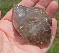 Smoky Quartz Crystal Double Terminated Large Elestial Smokey DT Point 110g 66mm