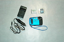 "Fujifilm FinePix XP50 14.4MP w/2.7""LCD Digital Camera Blue Color Bundle Charger"