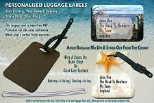 Personalised Luggage Suitcase Bag Golf Holiday Label Tag ID School weddings gift