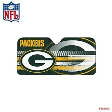 New NFL Green Bay Packers Windshield Folding Auto Sun Shade Large Size