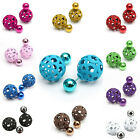 1 Pair Women Lady Girl Hot Fashion Hollow Out Double Side Stud Earrings Gift