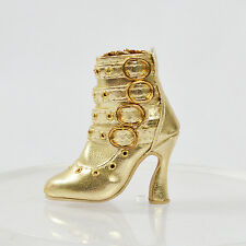 "Gold Shoes Boots chaussures for 16"" Tonner Ellowyne Wilde BJD Delilah Noir Doll"