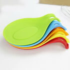 Silicone Heat Resistant Spoon Fork Mat Rest Utensil Spatula Holder Simple Tool