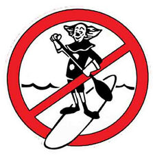 No Stand-Up  (SUP's)   Vintage-Style Surf/Travel  Decal