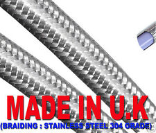 """1/4"""" (6mm Stainless Braided Fuel Hose Kit Car BriSCA F2"""