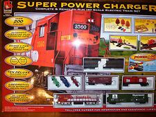 MINT ! Life-Like Trains SUPER POWER CHARGER complete HO Scale Electric Train Set