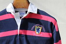 Emmanuel College Cambridge L (117 cm ) Blue & Pink Striped Rugby Shirt - England