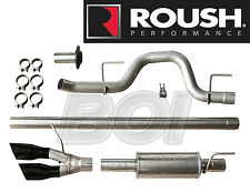2010-2014 Ford F-150 Roush Cat-back Side Exit Exhaust System Kit w/ Black Tips