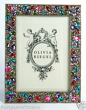 Olivia Riegel Dominique Photo Frame Picture Photograph Crystals 5x7""