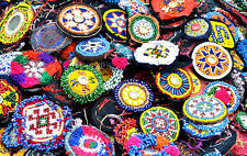 Wholesale Lot 10 Kuchi Afghan Banjara Tribal ATS Belly Dance Beaded medallion S