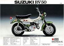 SUZUKI Brochure RV50 RV50M 1975 Sales Catalog REPRO