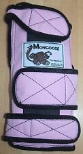 "Mongoose ""Equalizer"" Bowling Wrist Band Support, SLEP, Left Hand, Small, Pink"