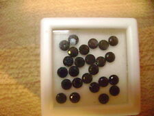 Natural Black Sapphire Round 3mm Lot of 25 Stones Ebays Best Deal