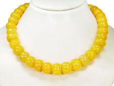 Außergewöhnliche Edelsteinkette aus gelbem Achat in Radform