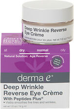 Deep Wrinkle Reverse Eye Creme with Peptides, Derma E, 0.5 oz