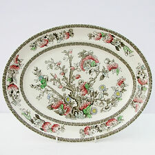 Vintage Johnson Brothers Indian Tree Oval Dinner Steak Plate Meat Turkey Platter