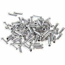 NEW 100PCS ALUMINUM BIKE BICYCLE SHIFTER BRAKE CABLE TIPS CAPS ENDS CRIMPS