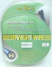 "Straightwire MUSICABLE II 1/8""3.5mm to dual Male RCA iPod Audio Cable 1 Meter"