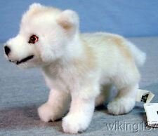 KOSEN made in GERMANY STANDING ARCTIC WOLF PUPPY PLUSH TOY