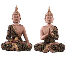 Thai Buddha Sitting - Gold Fabric Effect - Buddhism 24 cm high by 17cm  wide