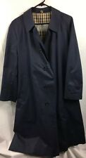 AQUASCUTUM LONDON MANS AQUA 5 BLUE TRENCH COAT 40 Long Made In England