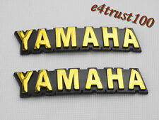 2X Motorcycle Emblem Decal For Yamaha 3D Fuel Gas Tank Badge Sticker Gold 90mm