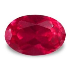12x10 mm, 6 cts  oval brilliant cut  red  created Ruby