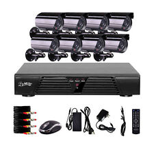 CCTV Security System H.264 8CH DVR Recorder 8x IR Video Surveillance Cameras Kit