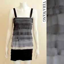 VERA WANG Silk Ruffle Dress Size Small