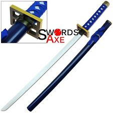 Wooden Bleach Sword Senbonzakura Cosplay Replica Byakuya Kuchiki Blue Convention