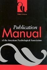 Publication Manual of the American Psychological Association (2001, Spiral)