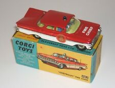 CORGI 482 ORIGINAL BOXED CHEVROLET IMPALA FIRE CHIEF COLLECTABLE & RARE 1966-69