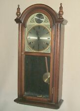 Alaron Walnut 31 Day Wall Clock with Chimes, Movement Cleaned and Oiled For You