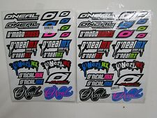 2 (two) ONEAL O'neal sticker decal sheets 42 pcs.total motocross ATV BMX