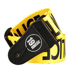 POLICE LINE Guitar Strap (1543) YELLOW do not cross iconic CIS rock funk punk