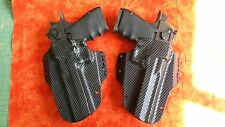 DEADPOOL HOLSTERS L & R BLACK CARBON FIBER KYDEX DESERT EAGLE 357 44 MAG 50 AE