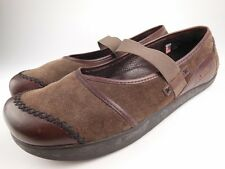 EARTH KALSO Allure Caribou Brown Leather Suede Mary Jane Shoes Sz 9.5 B