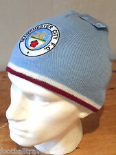 MANCHESTER CITY FOOTBALL RETRO 70's BEANIE HAT Unisex soccer Mens Womens Youth