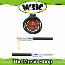 New Carson 10ft 7mm Guitar Cable Straight - Right  Angle End Lead - Quality Ends