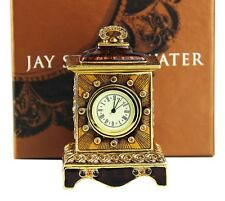 JAY STRONGWATER BRONZE CLOCK SWAROVSKI NEW ORIGINAL BOX MADE IN USA # 3