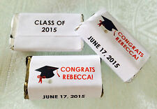 180 GRADUATION THEMED Candy wrappers/stickers/labels FAVORS 4 HERSHEY MINIATURES