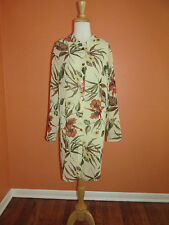 New Susan Graver Size 1X Tropical Floral Sheer Crinkle Duster Jacket