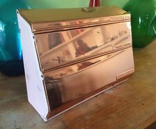 Vintage Lincoln Beautyware Dispenser Foil/Wax Paper Towels RARE Pink+ Copper!