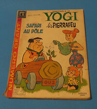 1972 THE FLINTSTONES LES PIERRAFEU YOGI SAFARI AU POLE VEDETTES T.V FRENCH COMIC