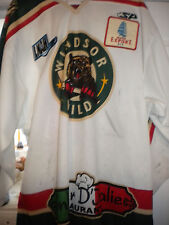 LNAH 2011-2012 WINDSOR WILD  GAME WORN ALEXANDRE CARIGNAN HOCKEY JERSEY